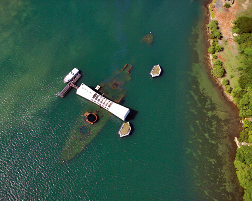 USS Arizona - Aerial View