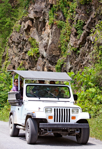 Enjoy a Jeep tour with amazing views