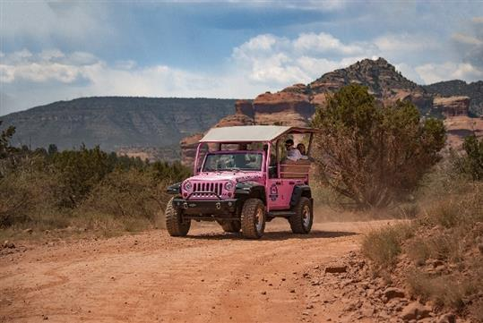 Board a customized Jeep Wrangler and head west for wide open views of the world famous Sedona red rocks.