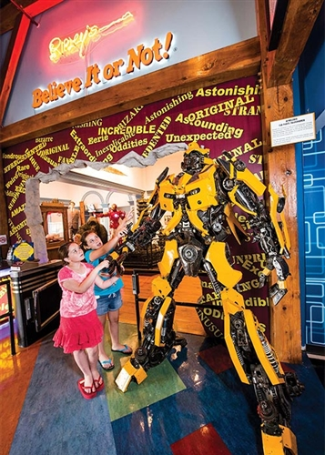 Car Parts Bumblebee - Ripley's Believe It or Not! Odditorium in Williamsburg, Virginia