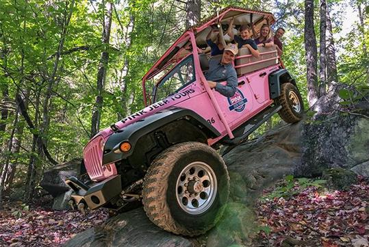 Roarking Fork Smoky Mountains Tour by Pink Jeep Tours in Pigeon Forge, Tennessee