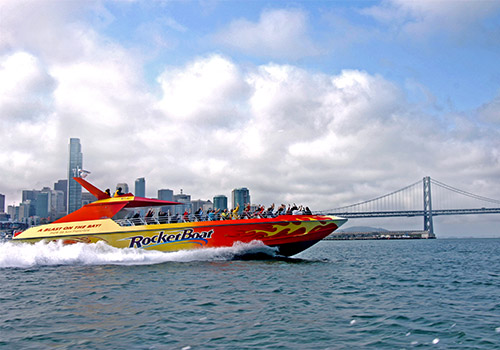 Bay Bridge & Skyline - RocketBoat in San Francisco, California