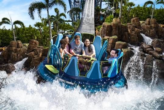 New Infinity Falls at SeaWorld Orlando, Florida