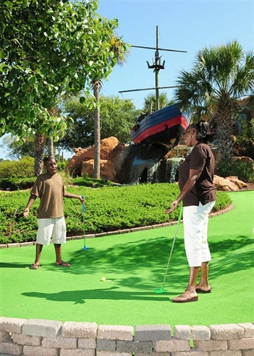 Play all day at Shipwreck Island Adventure Golf in Myrtle Beach, South Carolina
