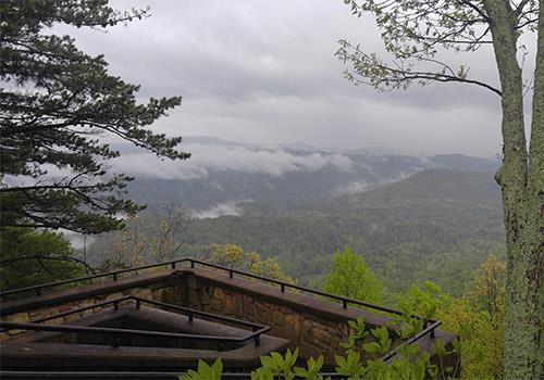 View from Look Rock - Sights of the Smokies Tour in Gatlinburg, Tennessee
