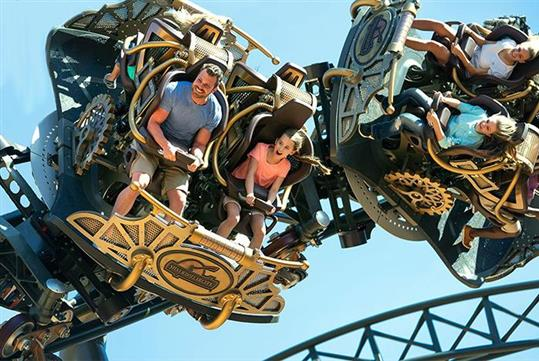 Time Traveler: The World's Fastest, Steepest, & Tallest Spinning coaster at Silver Dollar City in Branson, Missouri