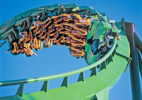 The Riddler's Revenge - Six Flags Magic Mountain in Valencia, California