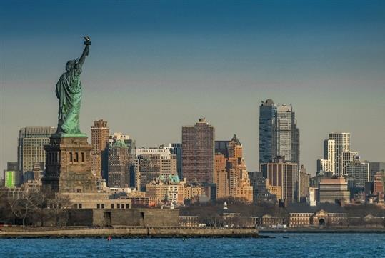Statue of Liberty & Ellis Island in New York, NY