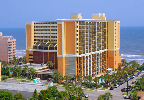 Caravelle Resort is located oceanfront in Myrtle Beach.
