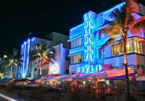 The Colony Hotel in Miami Beach, Florida