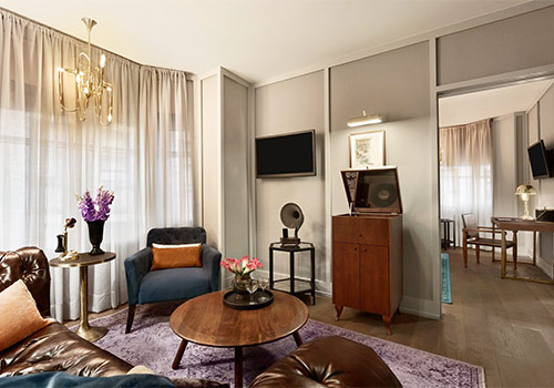 Executive Suite Living Room Section - The Evelyn in New York, New York