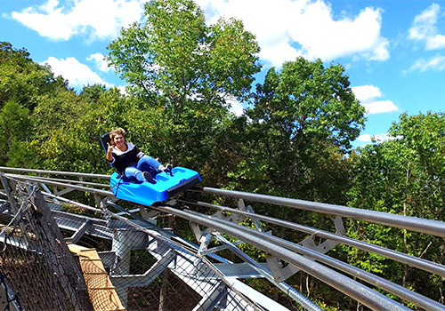 Thumbs up for Runaway Mountain Coaster Branson, Missouri