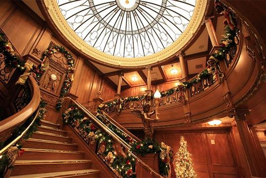 Christmas at Titanic Museum Attraction in Pigeon Forge, Tennessee