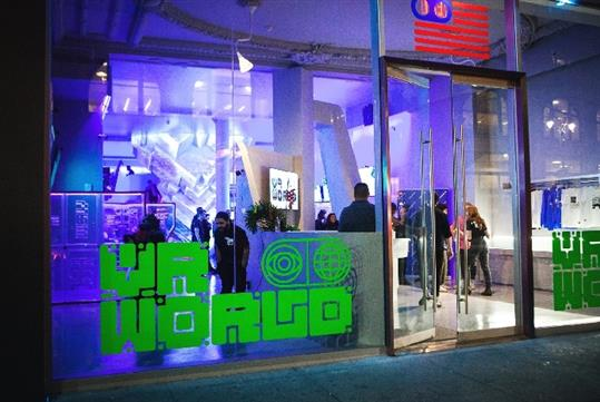 VR World entrance at 8 East 34th Street New York, NY 10016