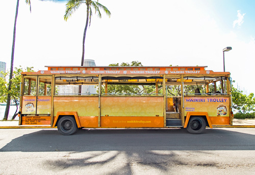 Waikiki Trolley in Honolulu, Hawaii
