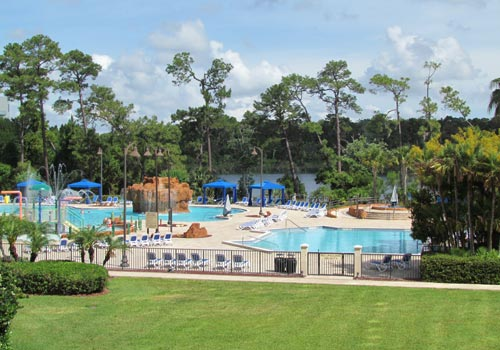 Our Oasis pool is situated lakeside and provides a peaceful place to kick back and relax.
