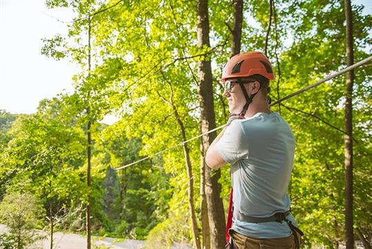 Zipline Canopy Tour at Shepherd of the Hills Adventure Park in Branson, MO