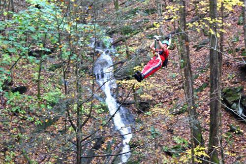 Adventure america zipline canopy tours hartford tn tennessee adventure america zipline canopy tours waterfall in hartford publicscrutiny Gallery