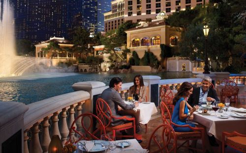 ... Nevada Outdoor Dining   Bellagio In Las Vegas, ...