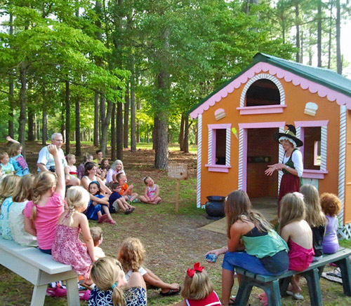 Delightful Brookgreen Gardens In Murrells Inlet, South Carolina Witch Entertains Kids  At Enchanted Storybook Forest ...