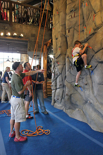 indoor climbing wall at noc