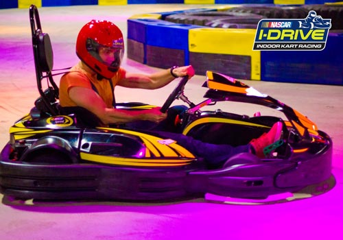 I-Drive NASCAR Indoor Kart racing puts you in driver's seat with champions of the industry, SODIKART. The SODIKART RTX is the newest innovation from the global leader of the kart manufacturing industry.
