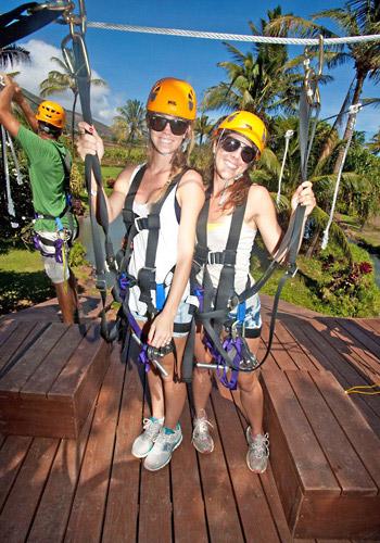 zipline tour at maui tropical plantation