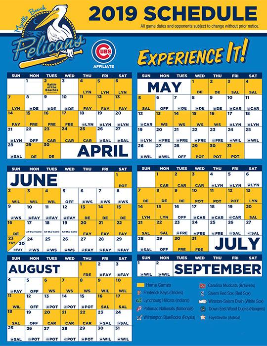 Myrtle Beach Pelicans 2019 Schedule Myrtle Beach Pelicans Baseball Tickets | Discount Tickets to