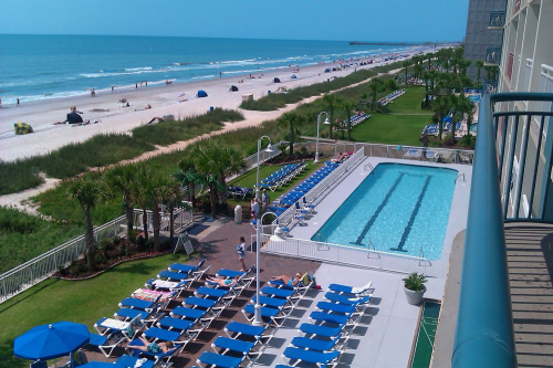 View From Hotel Paradise Resort In Myrtle Beach South Carolina