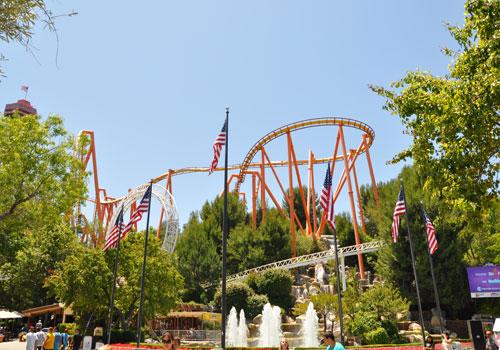 California Six Flags Magic Mountain In Valencia California