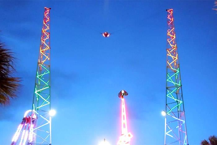 Sling Shot Thrill Ride In Myrtle Beach