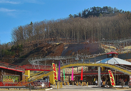 The Coaster At Goats On The Roof Pigeon Forge Tn