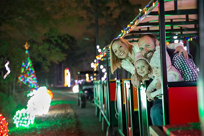 sc santa express train ride in santa village the great christmas light show in north myrtle