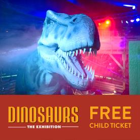 Dinosaurs the exhibition coupons